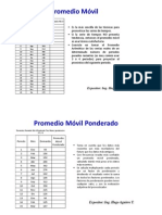Admin de Produccion - PROMEDIO MOVIL