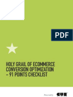 Holy Grail of eCommerce Conversion Optimization 91 Point Checklist and Infographic