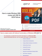 How to Create Windows 2008 Cluster with DSS V6 iSCSI Failover