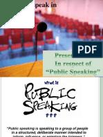 Presentation on public speaking