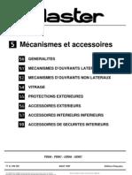 MASTER - Mécanismes et Accessoires