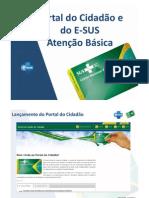 Portal do Cidadão e do E-SUS - Atenção Básica
