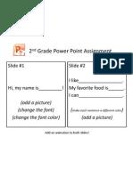 2nd Grade Powerpoint Assignment