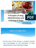Principles of Pharmacology and Ordering of Drugs-ppt Document