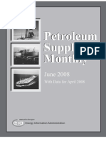 Petroleum Supply Monthly_Data for April 2008