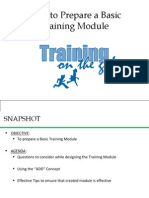 How to Prepare a Training Module