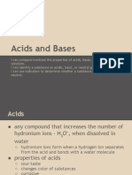 Acid and Base Notes