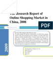 The Research Report of Online Shopping Market in China, 2008