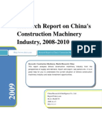Research Report on China's Construction Machinery Industry, 2008-2010