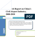 Research Report on China's Civil Airport Industry, 2008-2010