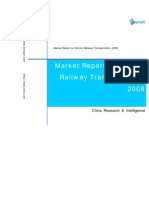 Market Report on China's Railway Transportation, 2008