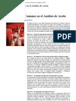 Cinco Errores Comunes en el Análisis de Aceite
