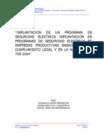 IMPLANTACIÓN DE UN PROGRAMA DE SEGURIDAD ELECTRICA