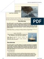 Operational OcOperational Oceanographic Needs for the Offshore Oil and Gas Industryeanographic