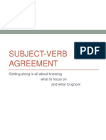 subject verb agreement ppt