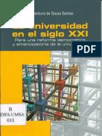 La Universidad en el siglo XXI. Para una reforma y emancipación de la Universidad. Boaventura de Sousa Santos.pdf