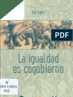 La igualdad es cogobierno. Luís Tapia.pdf