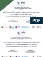 certificados de premiação Karlla Tenório