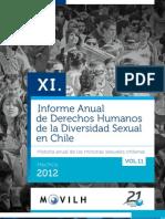 XI Informe Anual de los Derechos Humanos de la Diversidad Sexual en Chile - Hechos 2012 / @Movilh