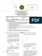 Test Phisics XII