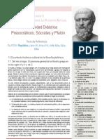1UD Presocráticos, Sócrates y Platón