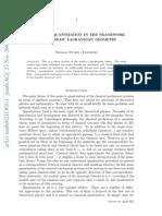 Geometric Quantization in the Framework of Algebraic Lagrangian Geometry