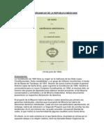 Bases Organicas de La Republica Mexicana