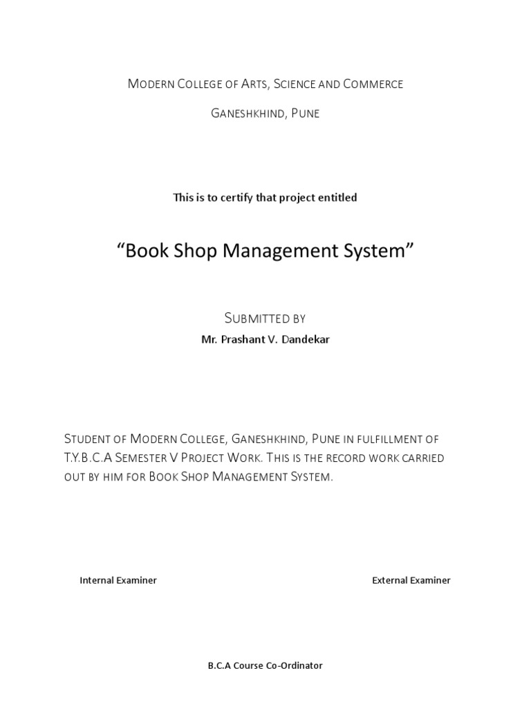 BOOK SHOP INVENTORY SYSTEM Backup – Book Inventory Template
