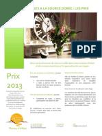 Prix Pour Stages 2013