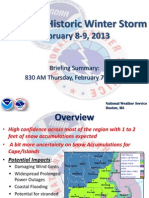 The February 2013 storm
