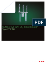 Outdoor Live Tank SF6 Circuit Breaker Type EDF SK