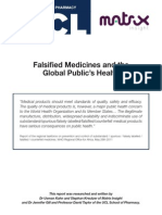 Falisified Meds and the Global Publics Health