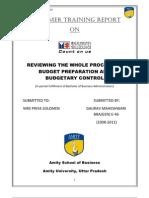Budget Control in Maruti
