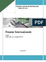 Finante Internationale. Suport de Curs