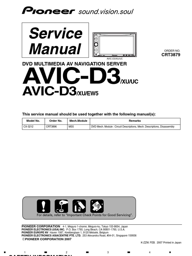 Pioneer AVIC D3 Service Manual | Laser | Electrical Connector