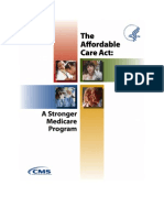 The Affordable Care Act – A Stronger Medicare Program in 2012