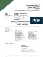 Strategy Finance Committee Agenda - Feb 2013