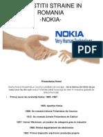 Investitii Directe in Romania - Nokia- Lauric Ovidiu Adrian Finante Banci Anul 3 Grupa 2