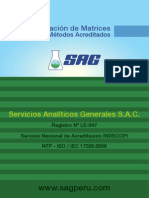 Matrices de Métodos Acreditados 2013