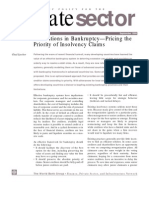 Innovations in Bankruptcy—Pricing the Priority in Insolvency Claims