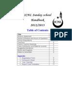 Sunday School Handbook 2012-2013