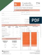 Cuadernillo de Respuestas Escala (GADS)
