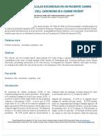Carcinoma de celulas escamosa (caso clìnico)