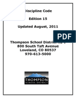 Thompson Discipline Code
