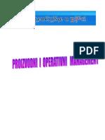 Proizvodna funkcija i proizvodna strategija i njihova upotreba u preduzecu.Proizvodni ciljevi  Izabrana proizvodna strategija i definisana misija, kao i razmatranje specifičnih prednosti organizacije predstavljaju potreban, ali nedovoljan element za vođenje konkretnih akcija na upravljanju proizvodnjom, pa je kao treći element formulisanja proizvodne stategije potrebno definisati proizvodne ciljeve Cilj predstavlja uočavanje željenih rezultata koje treba ostvariti u određenom vremenu. Proizvodni ciljevi organizacije treba da budu jasno definisani za ključne elemente proizvodnog sistema i daju se za određeni vremenski period.  Pri nastupu na tržište kako bi obezbedila stabilnu poziciju na tržištu organizacija može se odlučiti za četri sledeća proizvodna cilja: •minimizacija troškova •visok nivo kvaliteta •kraći rok isporuke •velika fleksibilnost Ciljevi proizvodnje se moraju iskazati kvantitativnim pokazateljima i odnose se na rezultat koji treba ostavariti u kratkoročnom i