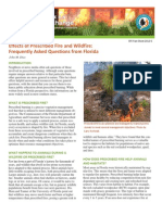 Effects of Prescribed Fire and Wildfire