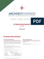 VC Backed MA Snapshot Q4 2012