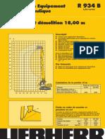 Information Equipement Pelle Hydraulique R 934 B ` Litronic