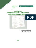 Administración y manejo de herbarios