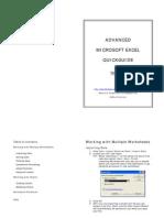 Advanced Microsoft Excel QG